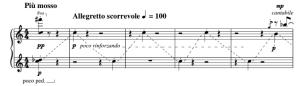 Figure 2 : Gervasoni, Prémices, mes. 1-5